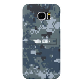 Navy NWU Camouflage Customizable Samsung Galaxy S6 Case