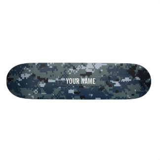 Navy NWU Camouflage Customizable Skateboard Deck