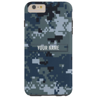 Navy NWU Camouflage Customizable Tough iPhone 6 Plus Case