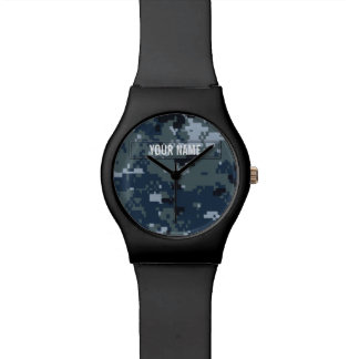 Navy NWU Camouflage Customizable Wrist Watch