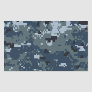 Navy NWU Camouflage Rectangular Sticker