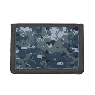 Navy NWU Camouflage Tri-fold Wallets