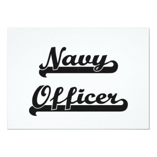 Navy Officer Classic Job Design 5x7 Paper Invitation Card