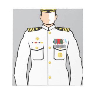 Navy Officer Notepad