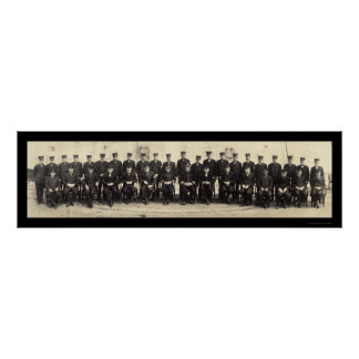 Navy Officers Onboard WWI Photo 1918 Poster