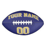 NAVY OLD GOLD AND WHITE Custom Football