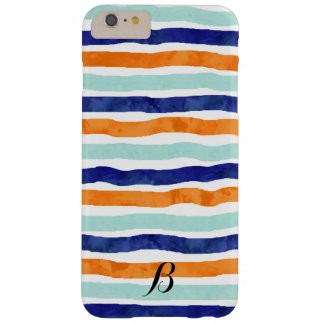 Navy Orange Sky Blue Stripes iPhone 6/6s Plus Case