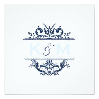 Navy & Pale Blue Special Request Personalized Invitation