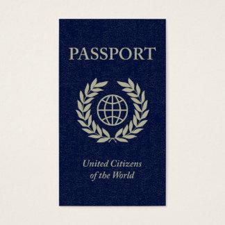 navy passport business card