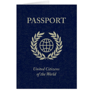 navy passport greeting card