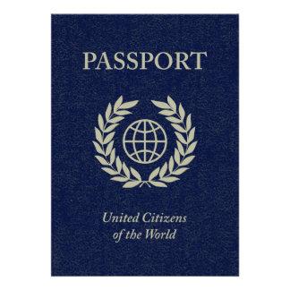 navy passport personalized invitations