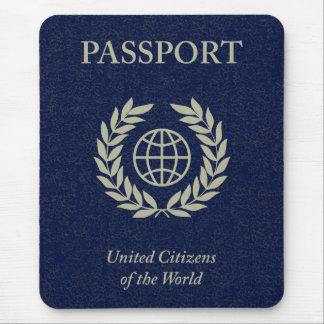 navy passport mouse pad