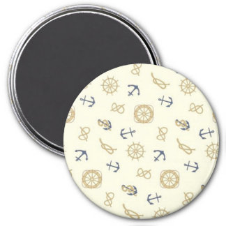 Navy pattern blue anchors magnet