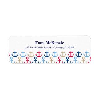 Navy pattern label