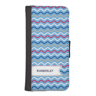 Navy pattern iPhone 5 wallet cases