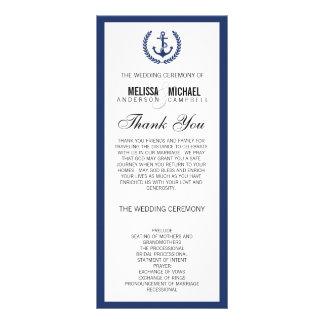 Navy Perfect Chevron/Zig Zag Wedding Program