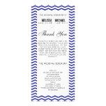 Navy Perfect Chevron/Zig Zag Wedding Program Rack Card