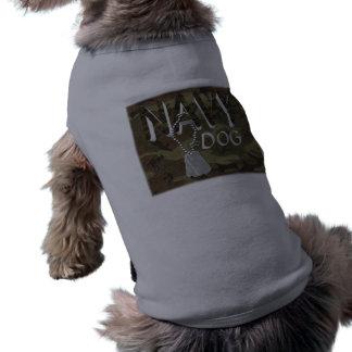 Navy Pet T-Shirt Doggie Tshirt