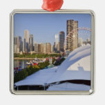 Navy Pier and Downtown Chicago Christmas Ornaments