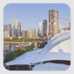 Navy Pier and Downtown Chicago Square Sticker