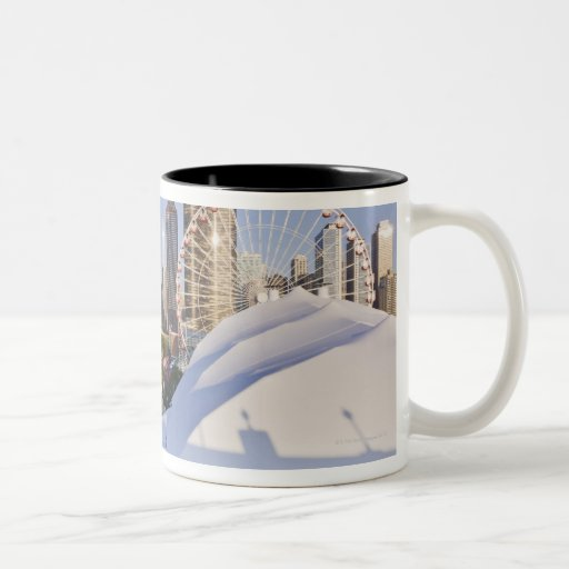 Navy Pier and Downtown Chicago Two-Tone Coffee Mug