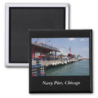 Navy Pier, Chicago 2 Inch Square Magnet