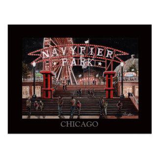 Navy Pier Chicago Collection Randsom Art Post Card