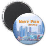 Navy Pier - Chicago Illinois 2 Inch Round Magnet