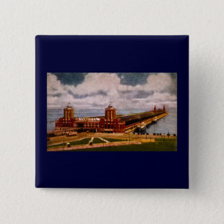 Navy Pier, Chicago, Illinois (ca.1916-1930) Button