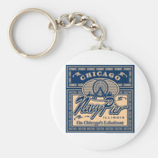 Navy Pier Chicago Keychain