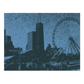 Navy Pier Ink Postcard