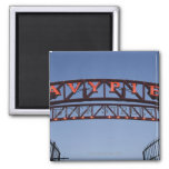 Navy Pier sign in Chicago Illinois USA 2 Inch Square Magnet