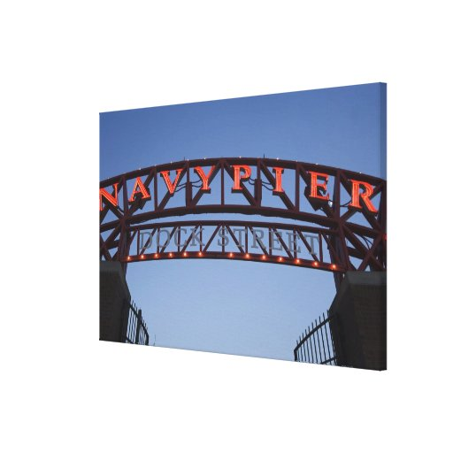 Navy Pier sign in Chicago Illinois USA Gallery Wrapped Canvas
