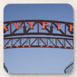 Navy Pier sign in Chicago Illinois USA Beverage Coasters