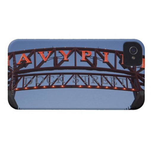 Navy Pier sign in Chicago Illinois USA iPhone 4 Case