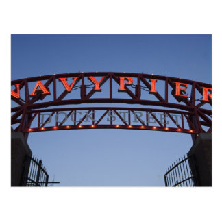 Navy Pier sign in Chicago Illinois USA Post Card
