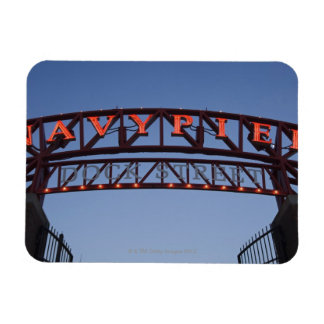 Navy Pier sign in Chicago Illinois USA Vinyl Magnets