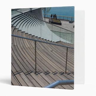 Navy Pier Stairs 3 Ring Binder