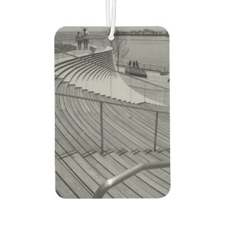 Navy Pier Stairs Grayscale Car Air Freshener