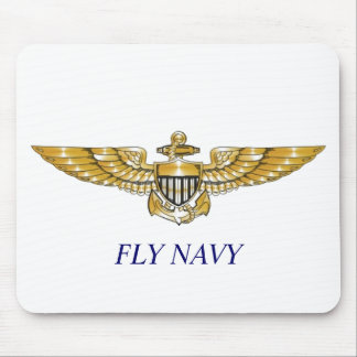 Navy_Pilot_Wings, FLY NAVY Mouse Pad