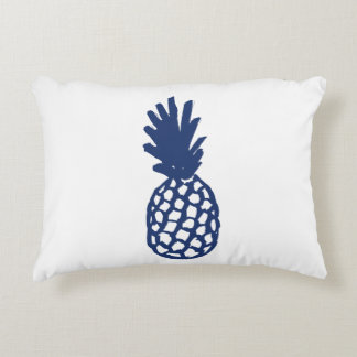 Navy Pineapple Accent Pillow
