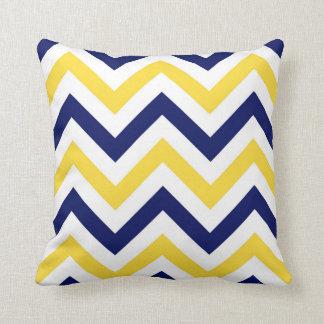 Navy, Pineapple, Wht Large Chevron ZigZag Pattern Pillow