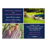 Navy Pink Photo Wedding Invitation