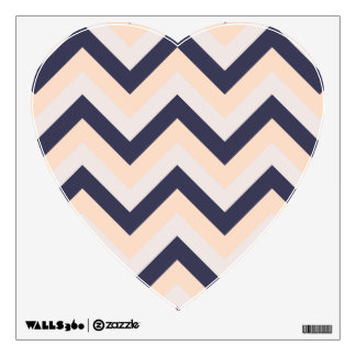 Navy Pink Wedding Colors Modern Chevron Pattern Wall Decal
