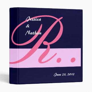 Navy  Pink Wedding Monogram Planner Photo Binder