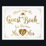 "navy Please sign our guest book sign gold<br><div class=""desc"">wedding guestbook sign</div>"