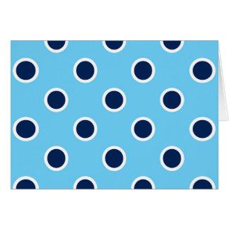 Navy Polka Dots on Light Blue Birthday Card