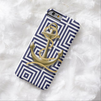 navy preppy pattern nautical anchor barely there iPhone 6 case