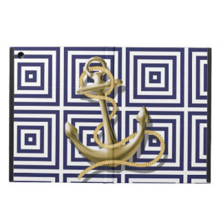 navy preppy pattern nautical anchor case for iPad air