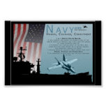 Navy Print